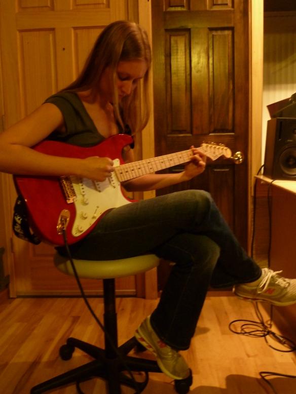 Allison Merten at Recording StudioPhoto by Caleb Behnke