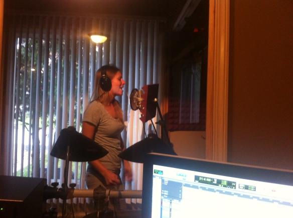 Allison Merten at Willie Martinez's Recording StudioPhoto by Willie Martinez