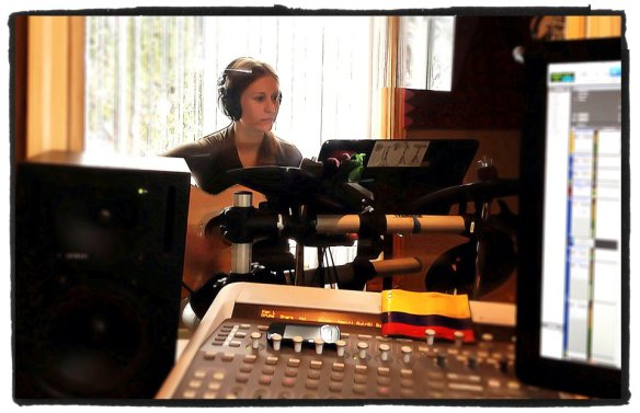 """Focused Face""-Recording the Acoustic Guitar PartsPhoto by Willie Martinez"