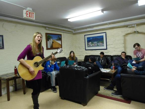 Allison Merten Performing at Live Music in the Lounge Photo by Manuel Gomez