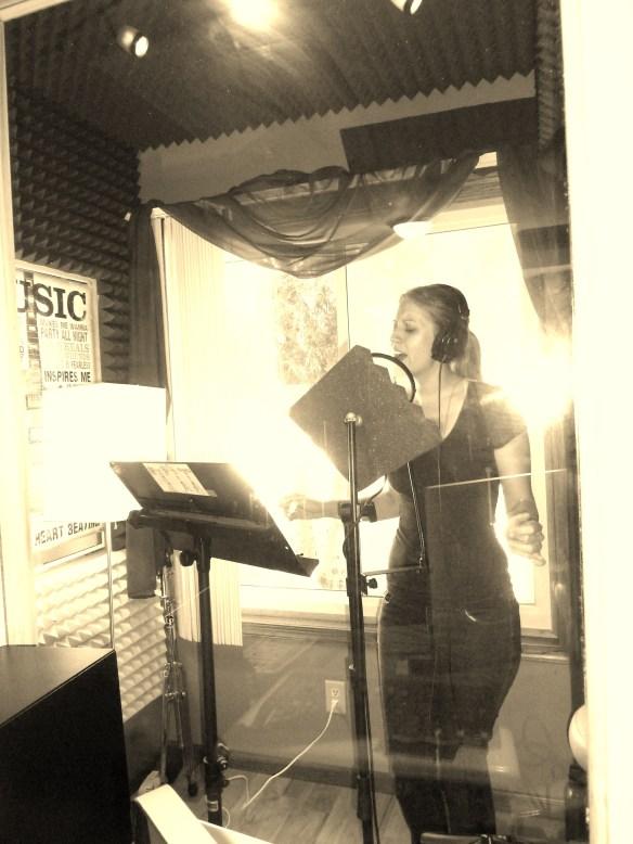 Allison Merten at Willie Martinez's Recording Studio Photo by Willie Martinez
