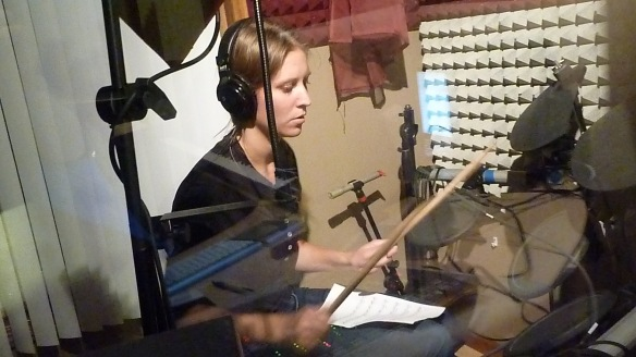 Allison Merten at Willie Martinez's Recording Studio Photo by Willie Martinez