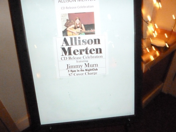Allison Merten CD Release Sign2