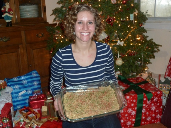 Excited about my Christmas Rice Krispies treats! :-)