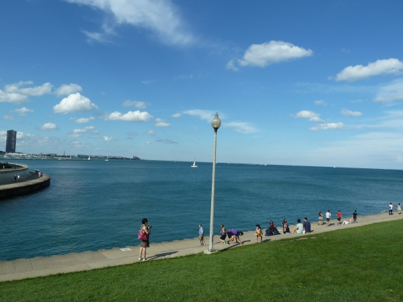 The Beautiful Lake Michigan on a hot SUMMER DAY next to the Field Museum :-*