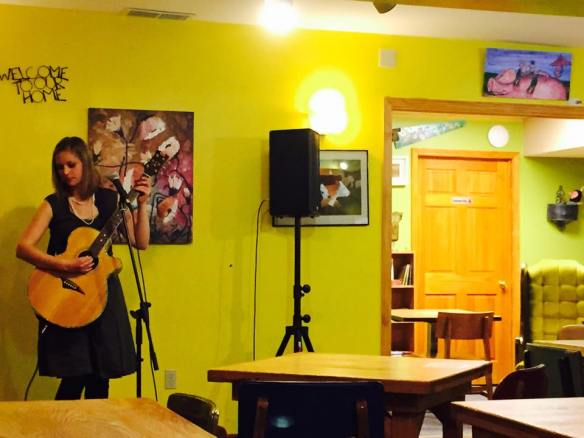 Allison Merten at Tuvalu Coffeehouse Photo by Yasir Alhumaidan