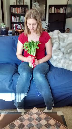 Me with the Celery Bouquet :-P