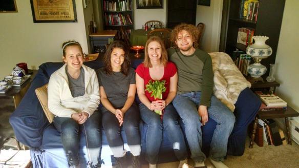 "The ""Horoscope"" Team Kathleen McCarthy, Taylor Peters, Allison Merten, Caleb Behnke"