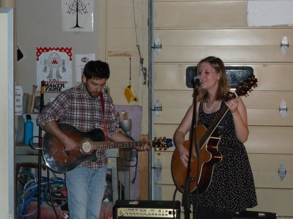 Allison Merten and Jimmy Murn at Evolution Arts Collective  Photo by Caleb Behnke