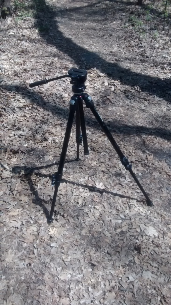The lonely tripod trying to stay balanced on the muddy ground :-P