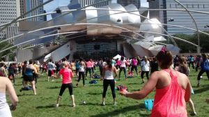 Zumba with Iris London at Millennium Park