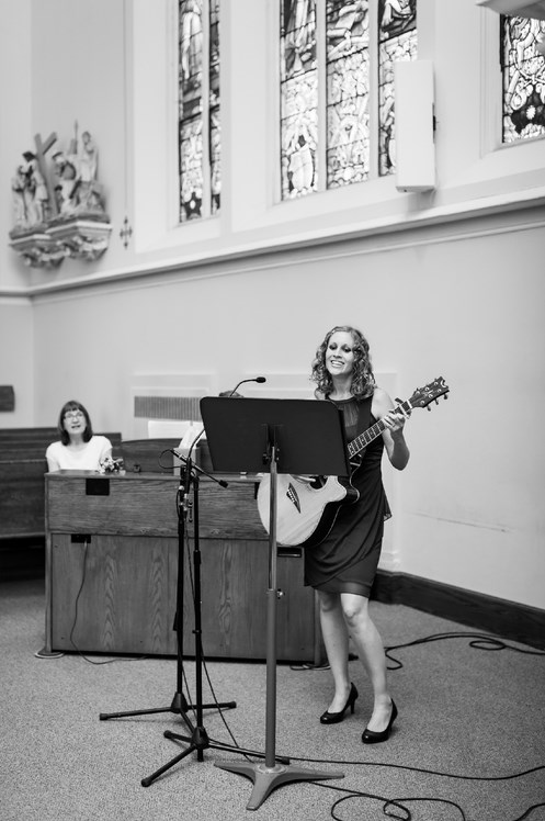 Allison Merten at Holy Angels Parish Photo by Maison Meredith Photography