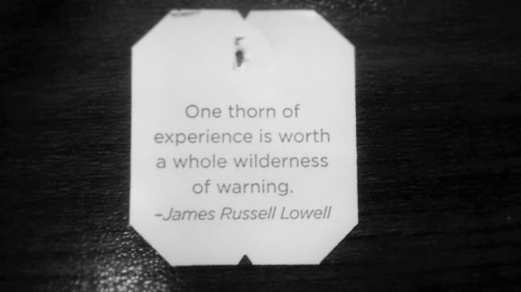 One Thorn of Experience James Russell Lowell allisonmerten.com