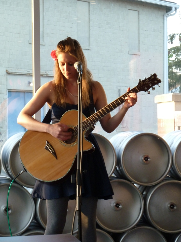 Allison Merten at the Hop Haus
