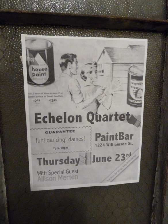 PaintBar Madison Flyer Echleon String Quartet and Allison Merten