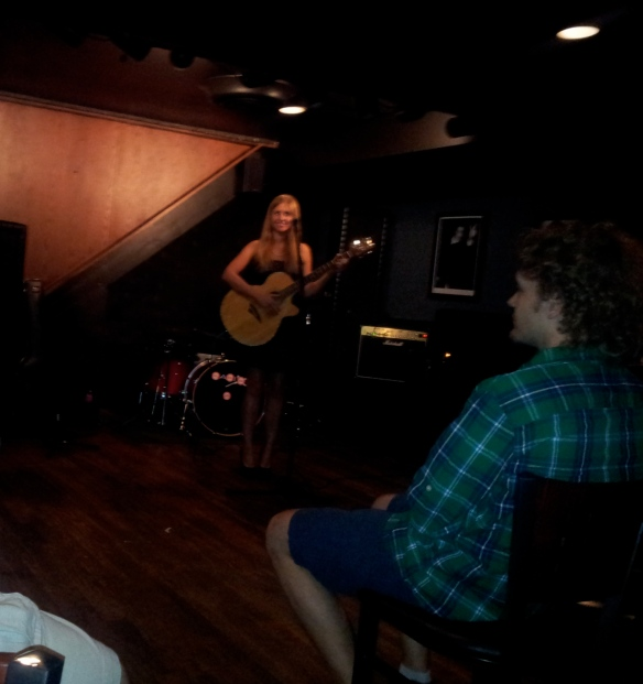 Performing at Glass Nickel Pizza Co. Photo by Mohammad Zawawi